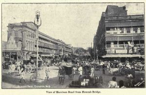 Harrison Road, vista da Ponte Howrah, em 1907